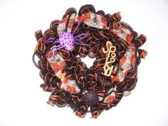 """Buy HALLOWEEN """"SPOOKY"""" Deco Mesh WREATH by jeaniscreativewreath. Explore more products on http://jeaniscreativewreath.etsy.com"""