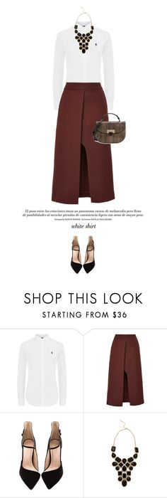 """""""White shirt #2"""" by anja-173 on Polyvore featuring Polo Ralph Lauren, Rosetta Getty, Adia Kibur, Aspinal of London and WardrobeStaples"""