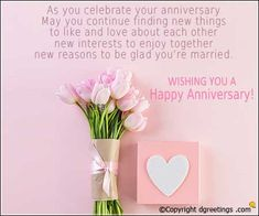 Wishing You A Happy Anniversary Anniversary Quotes For Parents, Anniversary Wishes For Friends, One Month Anniversary, Happy Marriage Anniversary, Wishes For Brother, Anniversary Cards, Happy Birthday Sister Funny, Happy Birthday Cards, Happy Birthdays
