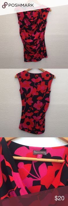 Vince camuto cowl neck floral top Vibrant colors make this top a must have! Vince Camuto Tops