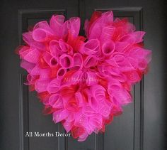 Hey, I found this really awesome Etsy listing at https://www.etsy.com/listing/174484270/valentines-day-deco-mesh-heart-wreath
