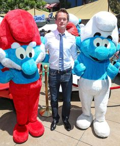Actor Neil Patrick Harris (C) attends 'The Smurfs 2' Meet The Smurfs On Global Smurfs Day Event at The Grove on June 22, 2013 in Los Angeles, California