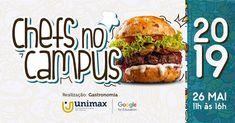 Chefs no Campus 2019 Hamburger, American, Ethnic Recipes, Food, Gastronomia, Hamburgers, Hoods, Meals, Burgers