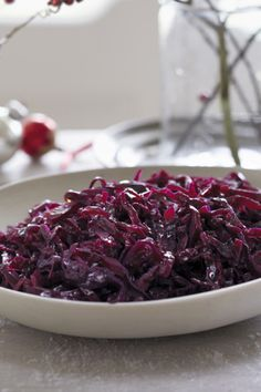 Make this braised red cabbage with apple the night before so you can save time on Christmas Day. This recipe also works really well on Boxing Day with cold cuts of meat too. Find more recipes like this one on the Waitrose website. Recipe For Braised Red Cabbage, Red Cabbage Recipes, Braised Cabbage, Christmas Vegetable Recipes, Holiday Recipes, Christmas Recipes, Xmas Food, Christmas Cooking, Red Cabbage With Apples