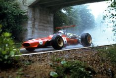 """pic of the day - """"A different angle"""" Chris Amon and his Ferrari 1968 German Grand-Prix, Nurburgring Nordschleife. © of Jim Culp, discovered on : Amon, Ferrari Daytona, Ferrari Ff, Ferrari Racing, F1 Racing, Ferrari 2017, Road Racing, Auto F1, Grand Prix"""