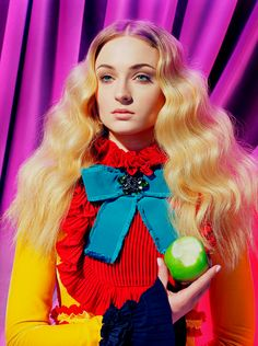 """iheartgot: """"Maisie Williams and Sophie Turner photographed by Miles Aldridge for TIME Magazine """""""