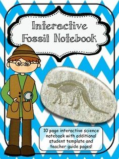 The Interactive Fascinating Fossil Science Notebook provides a MEANINGFUL way to cover the earth science concepts! It allows the students to gain meaning and understanding over key ideas in a FUN way. Students will be making items with in the notebook, creating foldables, sketching illustrations, and using a venn diagram.