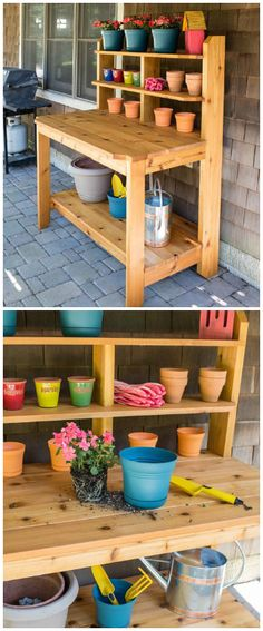 Built-To-Last Potting Bench: Create a great place for potting plants and gardening chores by building this tough, good-looking potting bench. This one is built from cedar to hold up to years of use outdoors. It looks so good that you might decide to use it as a serving station on your deck or patio, too. Find the FREE project plan and many others at buildsomething.com
