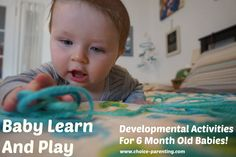 Play With Yarn:Come join me as I explore some simple and fun activities that you can try with your young infant.