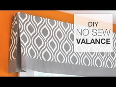 DIY No Sew Valance Tutorial - YouTube