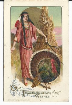 1912 John Winch Thanksgiving Postcard by COLLECTORSCENTER on Etsy, $30.00