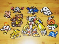 Digimon perler beads