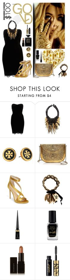 """""""Dress under $100"""" by mizzura ❤ liked on Polyvore featuring River Island, Eskandar, Tory Burch, From St Xavier, Imagine by Vince Camuto, Marni, Christian Louboutin, Barry M, Illamasqua and tarte"""