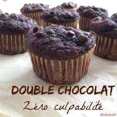 Hot chocolate and whipped cream with coconut - Clean Eating Snacks Muffins Double Chocolat, Muffin Bread, Chocolate Muffins, Vegetarian Chocolate, Muffin Recipes, Healthy Desserts, Healthy Recipes, Clean Eating Snacks, Recipes