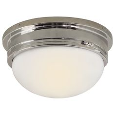 Marine Large Flush Mount in Polished Nickel with