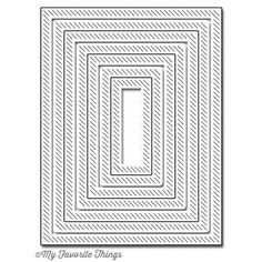 My Favorite Things INSIDE AND OUT DIAGONAL STITCHED RECTANGLE STAX Die-Namics MFT606 Preview Image