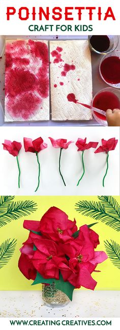 Poinsettia craft for kids pin