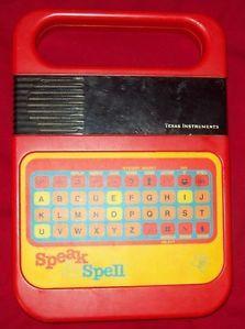 1970's toys | Vintage Speak and Spell Texas Instruments Vintage Toys 1970'S | eBay
