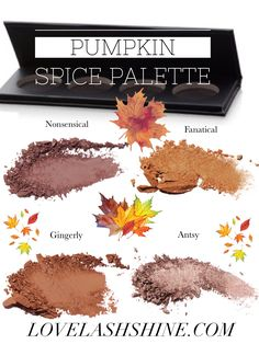 Create the perfect fall look for your eyes with a custom Pumkin Spice Palette with Younique's new customizable quads.