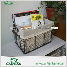 Hot selling Cheap metal basket with liner