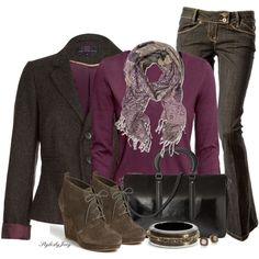 """Plum Tweed"" by stylesbyjoey on Polyvore"