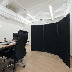 Versare Privacy Screen Color: Black, Size: H x W Desk Dividers, Hanging Room Dividers, Panel Room Divider, Living Room Windows, New Living Room, Freestanding Room Divider, Privacy Panels, Wood Slats, Glass House