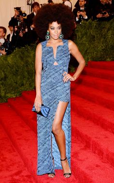 For the 2013 Met Gala, Knowles gave off a retro '70s vibe in this Kenzo dress.