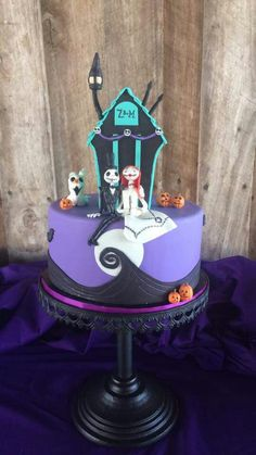 The Nightmare Before Christmas Groom's Cake