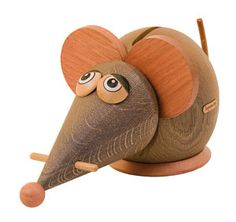Mouse handcrafted wooden Moneybox by Janoschik