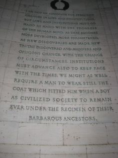 Thomas Jefferson's words.