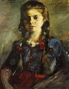 Portrait of Wilhelmine with Her Hair in Braids, Lovis Corinth. Germany (1858-1925)