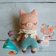 Sharing some IG love today. This little cuteness is made. (Mingky Tinky Tiger + the Biddle Diddle Dee) Crochet Pig, Cute Crochet, Crochet Dolls, Amigurumi Toys, Amigurumi Patterns, Crochet Patterns, Giant Knit Blanket, Knitted Animals, Knitted Blankets