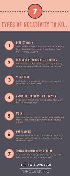 Negative thinking shifts our reality and causes anxiety. Learn how to recognize negative thinking and stop it!   This Kathryn Girl