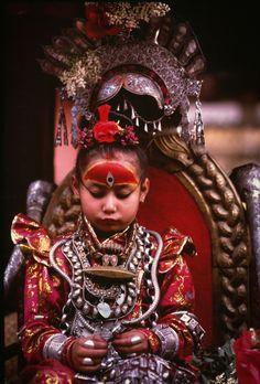 The Kumari - Living Goddess . Nepal