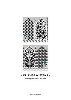 Erlends Mittens Pattern Selbu Pattern от silverishmoon на Etsy