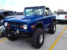 1973 Ford Bronco (My daughter's first car was pretty close to this, but a '74, white grill and white wheel well skirts. What were we thinking?)