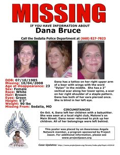 Missing Persons of America - Latest news and information about missing people Missing Persons of America: Dana Bruce: Missing from Missouri since 2008