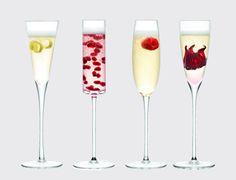 Lulu 4 Copes.  Juego de copa de champán/cóctel. Ofrece cuatro diseños surtidos para la presentación de bebidas con estilo y originalidad. Juego de cuatro en caja de regalo  http://es.ideesdisseny.com/eshop/cocina/servicio-de-mesa/lulu-4-copes-id-1467.htm