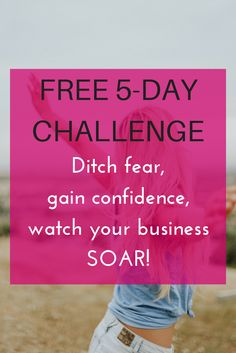 Are you sabotaging your own business? Join my free challenge to find out how you might be holding yourself back, what you can do to overcome the cycle of self-sabotage and how to move forward in your business with total badass confidence. Click to sign up!