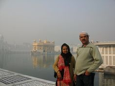 At the Golden Temple in Amritsar India.