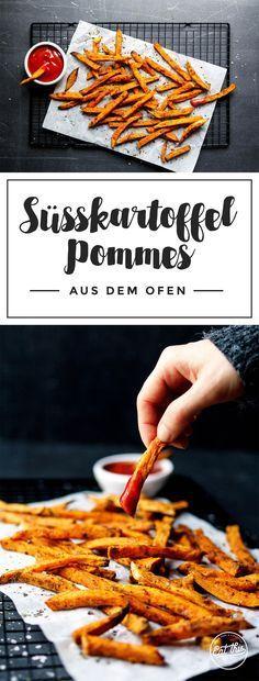 Du liebst Pommes? Dann probier' doch mal unsere genial leckeren und gesunden Süßkartoffel-Pommes mit Kokosöl aus dem Ofen!