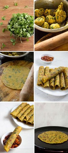Methi Thepla step by step - I made mine with fresh spinach. - I Cook Different Methi Recipes, Gujarati Recipes, Indian Food Recipes, Indian Snacks, Indian Breads, Chapati Recipes, Dog Recipes, Healthy Recipes, Vegetarian Recipes