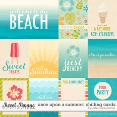 Once Upon a Summer: Chilling Cards by Kristin Cronin-Barrow Project Life Freebies, Project Life Layouts, Project Life Album, Project Life Cards, Cruise Scrapbook, Travel Scrapbook, Pocket Scrapbooking, Digital Scrapbooking, Journal Cards