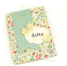 I know this isnt Stampin up, but i love the design and sheer simplicity of  this card...love the colors too! Pebbles In My Pocket Blog
