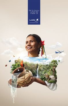 LAN Airlines want's travellers to see what's Inside Peru and its divers regions. Seven print ad's where chosen to represent the country. Print Advertising, Creative Advertising, Advertising Campaign, Print Ads, Lan Airlines, Pub Design, Layout Design, Site Design, Design Ideas