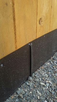 along bottom of fence. Buried into ground for digging dogs. Moremetal along bottom of fence. Buried into ground for digging dogs. Backyard Fences, Backyard Projects, Backyard Landscaping, Backyard Ideas, Garden Fencing, Garden Trellis, Landscaping Ideas, Diy Dog Fence, Dog Proof Fence