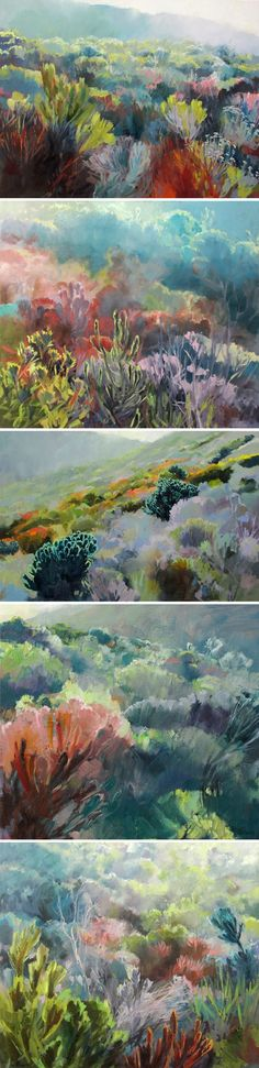 The Jealous Curator /// curated contemporary art Jenny parsons. Contemporary Landscape, Abstract Landscape, Landscape Paintings, Pastel Landscape, Nature Paintings, Contemporary Paintings, South African Art, Love Art, Amazing Art