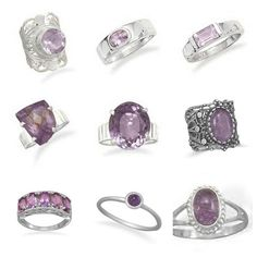 "Genuine Amethyst Rings Are Available In Our ""Rings"" Category @ http://salernosjewelrystore11.ecrater.com/c/997403/rings"