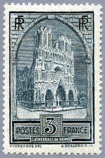 Cathédrale de Reims - Timbre de 1930