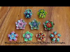 Seed bead jewelry Blossoming Beaded Flower for beaded vine necklace ~ Seed Bead Tutorials Discovred by : Linda Linebaugh Free Beading Tutorials, Beading Patterns Free, Beading Projects, Jewelry Patterns, Bead Jewellery, Seed Bead Jewelry, Beaded Jewelry, Crochet Flower Tutorial, Beading Techniques